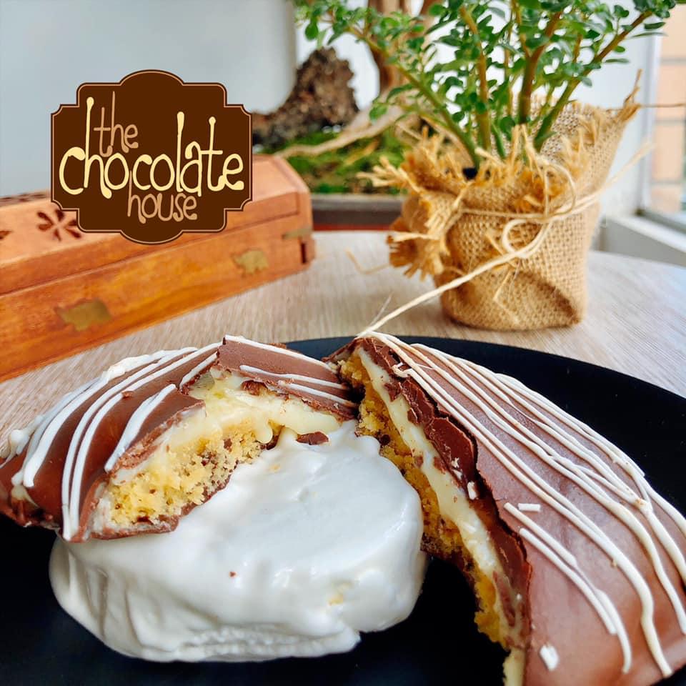 Galleta de chocolate creamy cookie rellena de chocolate blanco